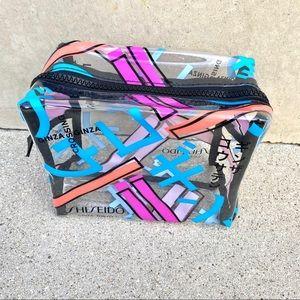 SHISEIDO makeup Bag COSMETIC clear zip pouch big